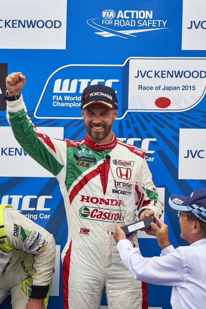 2015 EVENT: Race of Japan TRACK: Twin Ring Motegi TEAM: Castrol Honda World Touring Car Team CAR: Honda Civic wtcc DRIVER: Tiago Monteiro winner of race 2